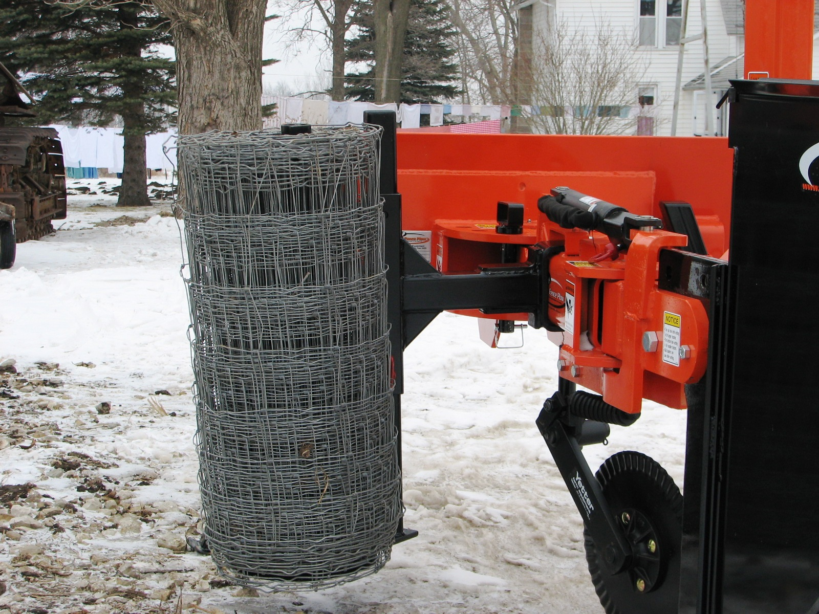 Silt Fence Plow | Rotary Offset Plow